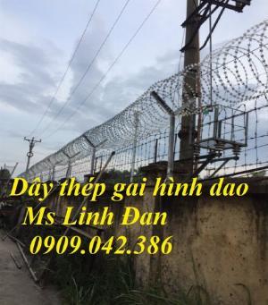 2021-09-26 10:10:14  13  Hàng rào dây thép gai hình dao, cách dăng dây thép gai hình dao mạ kẽm, 280,000