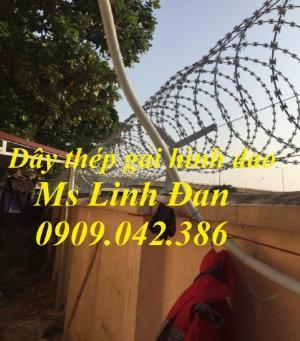 2021-09-26 10:10:14  9  Hàng rào dây thép gai hình dao, cách dăng dây thép gai hình dao mạ kẽm, 280,000