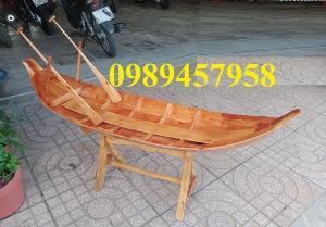 2021-09-26 12:07:16  19  Mẫu thuyền gỗ đẹp trang trí nhà hàng, Thuyền gỗ trưng bày quán hải sản, Thuyền gỗ trang trí 3m 6,500,000