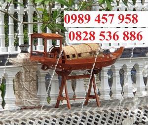 2021-09-26 12:07:16  5  Mẫu thuyền gỗ đẹp trang trí nhà hàng, Thuyền gỗ trưng bày quán hải sản, Thuyền gỗ trang trí 3m 6,500,000
