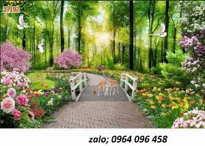 2021-09-27 06:47:32  4  Tranh gạch 3d ốp tường mẫu phong cảnh thiên nhiên - 656XP 1,200,000