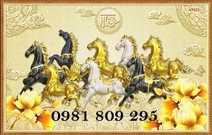 Gạch tranh 3d ngựa - tranh mã đáo phong thủy