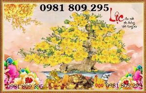 Gạch tranh 3d cây mai lộc vàng