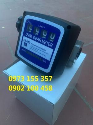 Đồng hồ đo dầu FM-150,đồng hồ đo dầu oval FM150,đồng hồ đo lưu lượng dầu hiển thị cơ