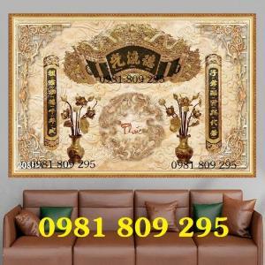 Tranh gạch men - tranh bàn thờ - gạch 3d HMJ8