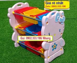 Bán kệ đồ chơi bằng nhựa, kệ đồ chơi mầm non bằng nhựa