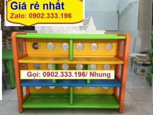 Chuyên bán kệ đồ chơi mầm non, kệ nhựa để đồ chơi giá rẻ