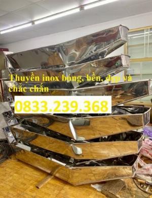 Thuyền inox 1 người thả mồi, câu cá giá rẻ