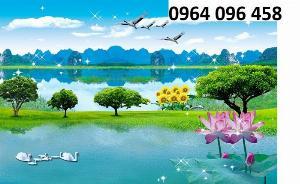 Tranh phong cảnh - tranh gạch 3d phong cảnh - 676XP