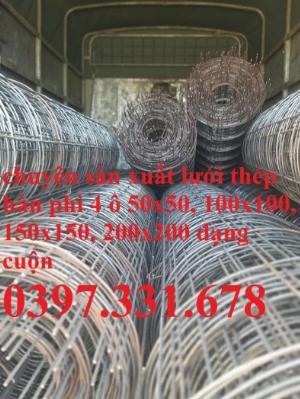 Lưới thép hàn, lưới thép hàn phi 4 ô (100x100); (150x150); (200x200) giá tốt tại Nghệ An