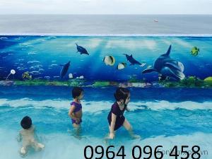 Gạch tranh 3d ốp bể bơi - GG54