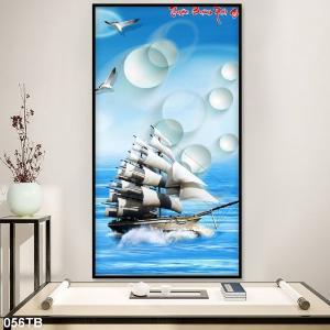 Tranh gạch 3D - thuyền buồm