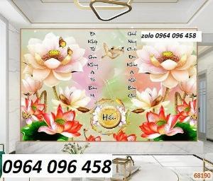 Tranh hoa sen 3d - tranh gạch 3d hoa sen - 565XM