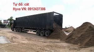 Sàn Tự Đổ Hyva Moving Floor xe tải thùng, container