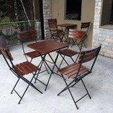 Bộ bàn ghế xếp cafe sân vườn giá tại xưởng.