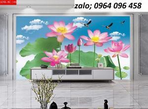 Tranh hoa sen - tranh gạch 3d hoa sen - VCX3