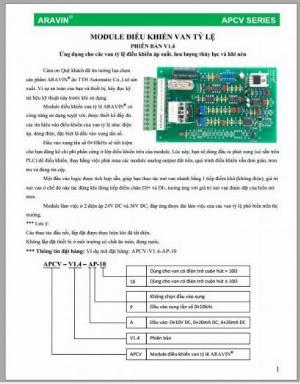 Modul điều khiển van tỉ lệ APCV-V1.4-AP-20 do TTH Automatic sản xuất - giá thành tốt : 0915322692