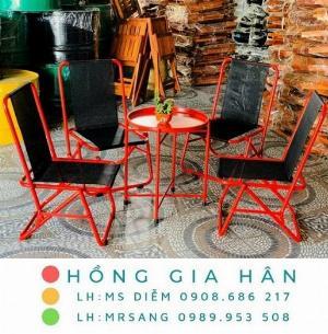 Bàn ghế cafe bệt Hồng Gia Hân MS401