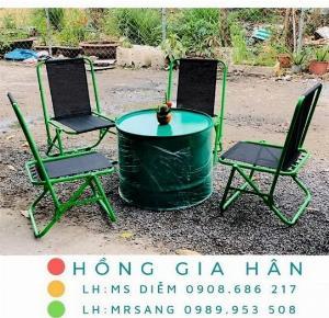 Bàn ghế cafe bệt Hồng Gia Hân MS403