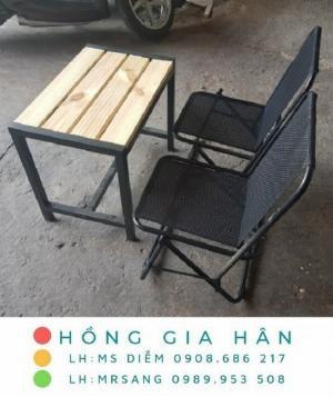 Bàn ghế cafe bệt Hồng Gia Hân MS404