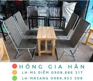 Bàn ghế cafe bệt Hồng Gia Hân MS405