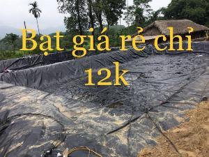 Màng hdpe đen 5zem khổ 6mx20m lót chống thấm trồng cây nông nghiệp