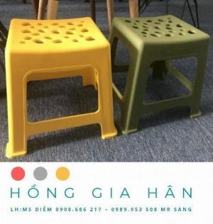 Bàn ghế cafe Hồng Gia Hân_Ghế bệt nhựa đúc