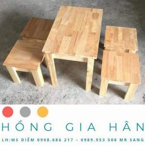 Bàn ghế cafe gỗ Hồng Gia Hân_Bàn ghế bệt
