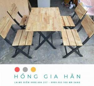 Bàn ghế gỗ Hồng Gia Hân_Bàn ghế nhà hàng quán ăn