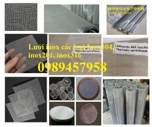 Nơi cung cấp lưới chống muỗi inox316, Lưới inox304 dây 0,5ly ô 5x5, Lưới inox201 giá rẻ