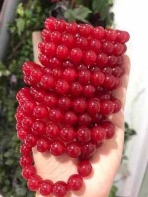Vòng tay may mắn đá mã não đỏ 10mm 18 hạt nữ mạng hỏa thổ đỏ là màu chiến thắng ạ