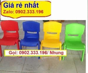 Ghế nhựa đúc mầm non, bán ghế nhựa đúc mầm non
