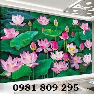 Tranh 3d hoa sen - mẫu gạch tranh giá tốt