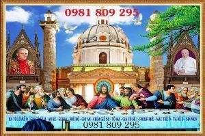Tranh 3d công giáo - tranh gạch 12 tông đồ