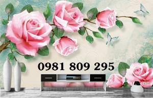Tranh gạch 3d hoa ngọc - hoa hồng NỮ HOÀNG