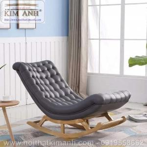 Mẫu ghế bập bênh thu gian, đọc sách cho người già, giá tại xưởng nội thất Kim Anh Thủ Dầu Một, Bình Dương