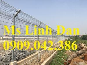 Hàng rào lưới thép sơn tĩnh điện, lưới thép hàng rào sơn tĩnh điện d5,