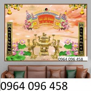2021-10-23 09:45:29  5  Tranh phòng thờ - tranh gạch 3d phòng thờ - 323SP 1,200,000