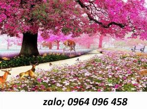 2021-10-23 09:51:56  2  Tranh hoa đào - gạch tranh 3d hoa đào - HDS2 1,200,000