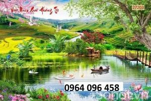 2021-10-23 09:56:32  5  Tranh phong cảnh đồng quê - tranh gạch 3d đồng quê 1,200,000