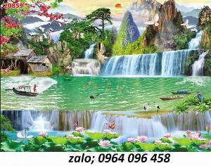 2021-10-23 09:56:32  4  Tranh phong cảnh đồng quê - tranh gạch 3d đồng quê 1,200,000
