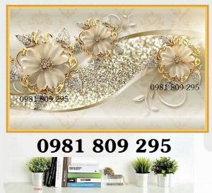 Tranh gạch men 3d hoa ngọc -GDG8