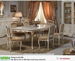 2021-10-23 12:01:26  8  Bộ bàn ghế ăn tân cổ điển sang trọng, cao cấp giá rẻ Dĩ An, Bình Dương, Bàn ghế ăn cổ điển phong cách châu Âu 13,500,000