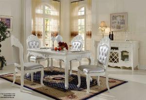 2021-10-23 12:01:26  5  Bộ bàn ghế ăn tân cổ điển sang trọng, cao cấp giá rẻ Dĩ An, Bình Dương, Bàn ghế ăn cổ điển phong cách châu Âu 13,500,000