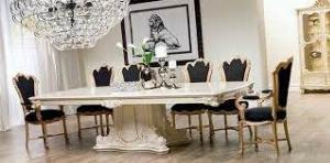 2021-10-23 12:01:26  4  Bộ bàn ghế ăn tân cổ điển sang trọng, cao cấp giá rẻ Dĩ An, Bình Dương, Bàn ghế ăn cổ điển phong cách châu Âu 13,500,000