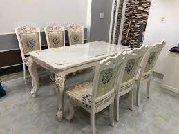 2021-10-23 12:01:26  3  Bộ bàn ghế ăn tân cổ điển sang trọng, cao cấp giá rẻ Dĩ An, Bình Dương, Bàn ghế ăn cổ điển phong cách châu Âu 13,500,000