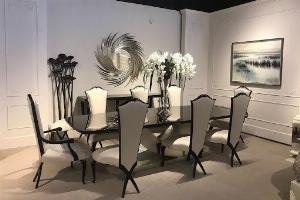 Bộ bàn ghế ăn tân cổ điển sang trọng, cao cấp giá rẻ Dĩ An, Bình Dương, Bàn ghế ăn cổ điển phong cách châu Âu