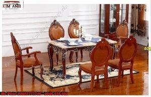 Bàn ghế ăn cổ điển giá rẻ bình dương