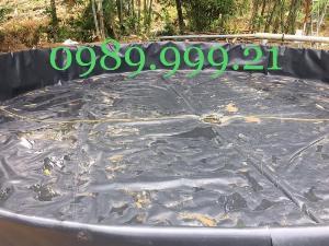 Bạt đen hdpe chống thấm 0.75mm khổ 5m 250m2 lót trại ếch