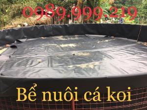 Bạt nylon đen 2 mặt hdpe 0.75mm 250m2 khổ 5m lót bể nuôi ốc